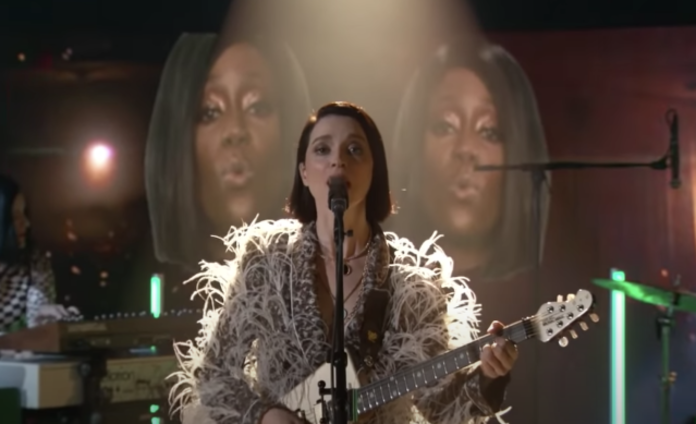 """St. Vincent Performs """"The Nowhere Inn"""" on """"Jimmy Kimmel"""""""